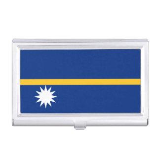 Flagge des Nauru-Visitenkarte-Halters Visitenkarten-Schatullen