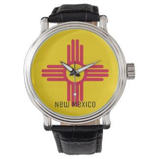Flagge des New Mexiko Armbanduhr