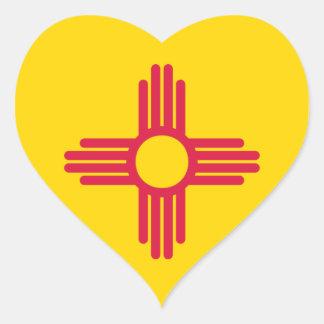 Flagge des New Mexiko Herz-Aufkleber
