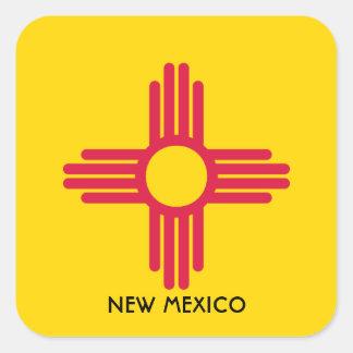 Flagge des New Mexiko Quadratischer Aufkleber