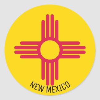 Flagge des New Mexiko Runder Aufkleber