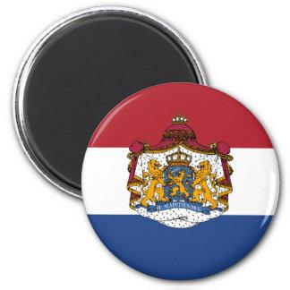 Flagge des niederländischen Wappens Runder Magnet 5,7 Cm