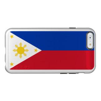 Flagge des Philippinen silbernen iPhone Falles Incipio Feather® Shine iPhone 6 Hülle