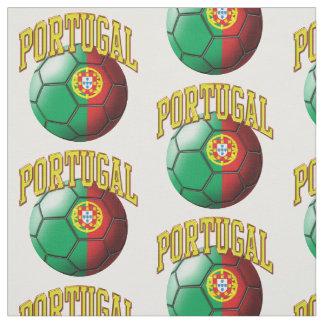 Flagge des portugiesischen Fußball-Musters Stoff