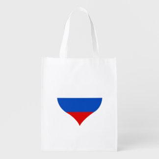 Flagge des Russen auf Metallhintergrund