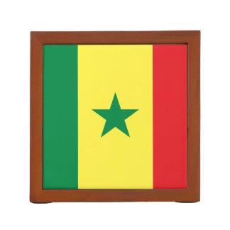 Flagge des Senegal-Schreibtisch-Organisators