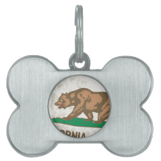 Flagge des Staat von KalifornienGrunge Tiermarke
