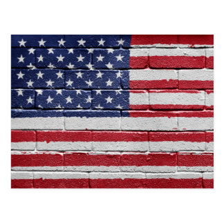 Flagge des USA Postkarte