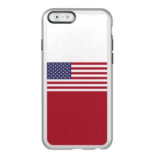 Flagge des Vereinigte Staaten silbernen iPhone Incipio Feather® Shine iPhone 6 Hülle