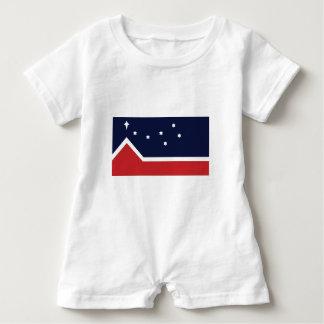 Flagge des Westerns Kanada Baby Strampler