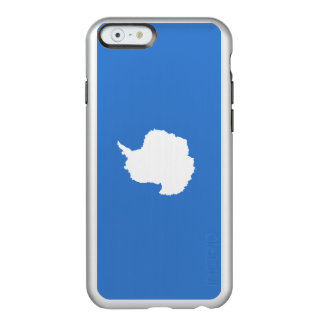 Flagge die Antarktis silbernen iPhone Falles Incipio Feather® Shine iPhone 6 Hülle