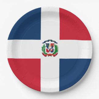 Flagge: Dominikanische Republik Pappteller