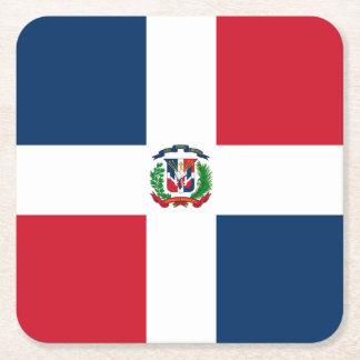 Flagge: Dominikanische Republik Rechteckiger Pappuntersetzer