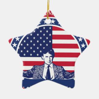 Flagge Donald Trump 2016 mit Porträt Keramik Ornament
