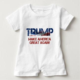 Flagge Donald Trump US Baby Strampler