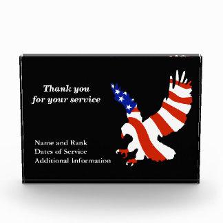 Flagge-Eagle-Service-Anerkennung Fotoblock