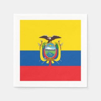 Flagge: Ecuador Papierserviette