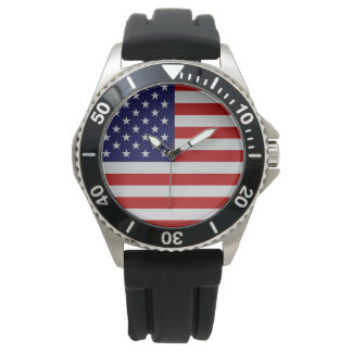 Flagge-Edelstahl-Armband-Uhr Uhr
