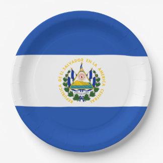 Flagge: El Salvador Pappteller
