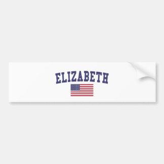 Flagge Elizabeth US Autoaufkleber