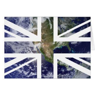 Flagge ErdGewerkschafts-Jack-Briten Karte
