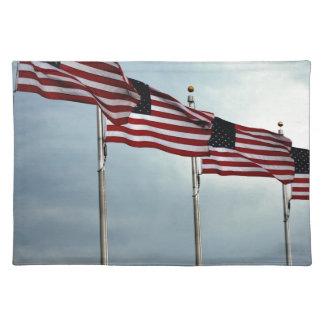 Flagge-Flagge spielt Streifen-Unabhängigkeit Juli Tischset