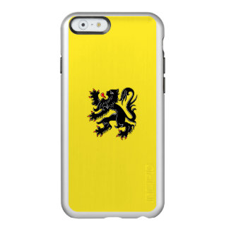 Flagge Flandern silbernen iPhone Falles Incipio Feather® Shine iPhone 6 Hülle