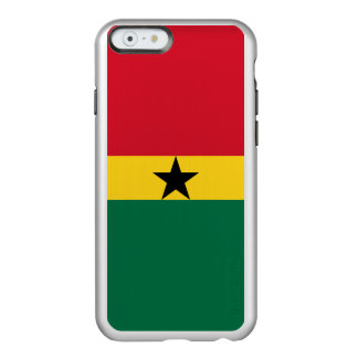 Flagge Ghana silbernen iPhone Falles Incipio Feather® Shine iPhone 6 Hülle