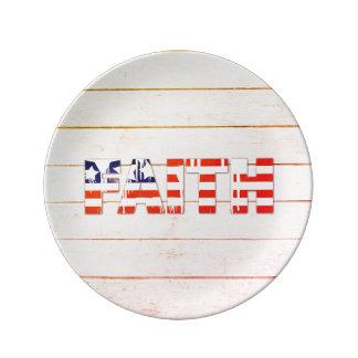 Flagge-Glauben-Porzellan-Platte Porzellanteller