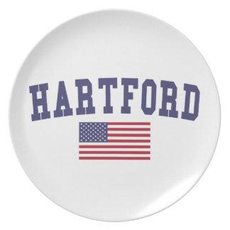 Flagge Hartfords US Flacher Teller