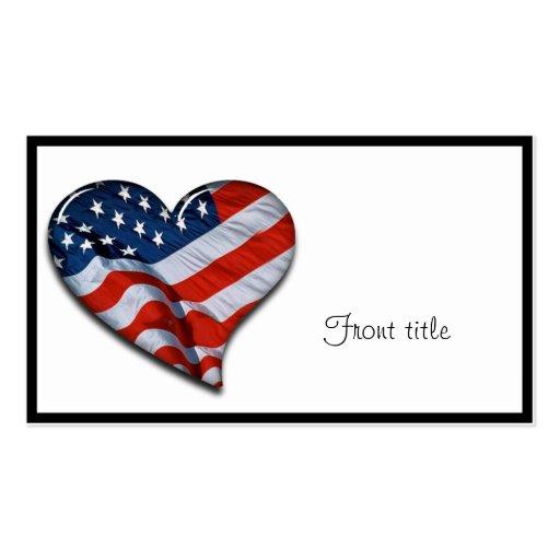 Flagge-Herz Visitenkarten Vorlage