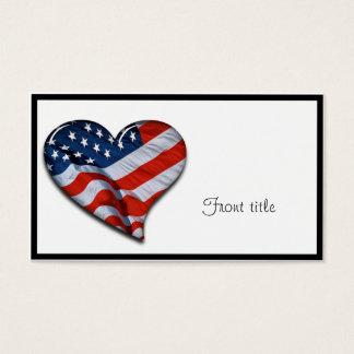 Flagge-Herz Visitenkarte