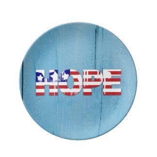 Flagge-Hoffnungs-Porzellan-Platte Teller
