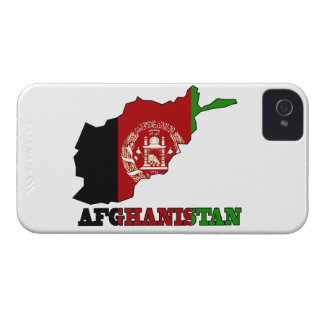 Flagge in der Karte von Afghanistan iPhone 4 Hüllen