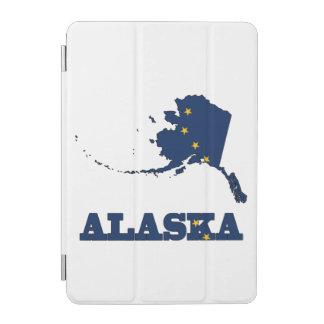 Flagge in der Karte von Alaska iPad Mini Hülle