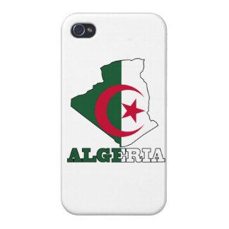Flagge in der Karte von Algerien iPhone 4 Schutzhüllen