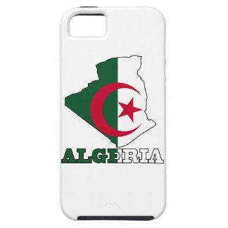 Flagge in der Karte von Algerien iPhone 5 Cover
