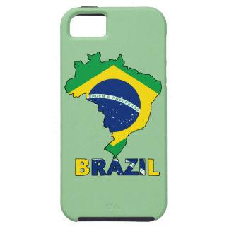 Flagge in der Karte von Brasilien iPhone 5 Case