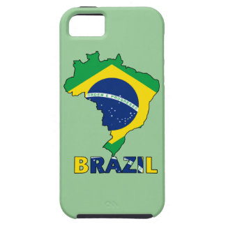 Flagge in der Karte von Brasilien iPhone 5 Etui