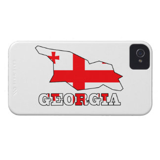 Flagge in der Karte von Georgia Case-Mate iPhone 4 Hüllen