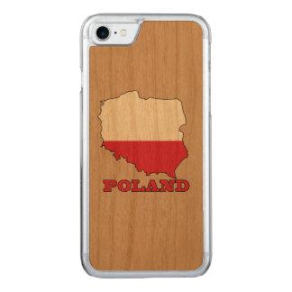 Flagge in der Karte von Polen Carved iPhone 8/7 Hülle