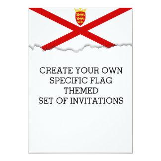 Flagge Jerseys Großbritannien Karte