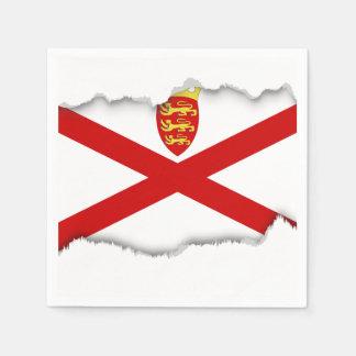 Flagge Jerseys Großbritannien Serviette