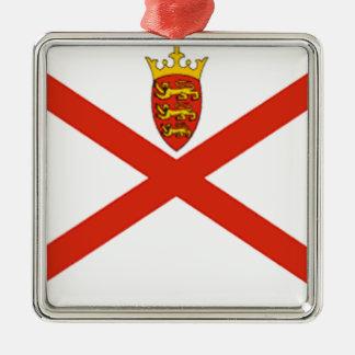 Flagge Jerseys (Großbritannien) Silbernes Ornament