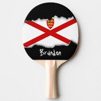 Flagge Jerseys Großbritannien Tischtennis Schläger