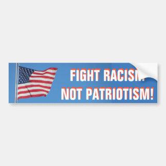 Flagge-Kampf-Rassismus-nicht Patriotismus Autoaufkleber
