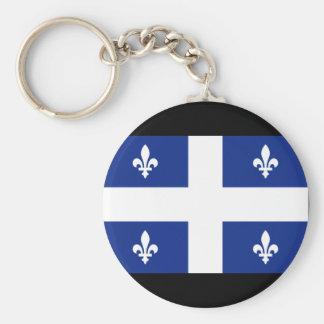 Flagge Kanadas Quebec Standard Runder Schlüsselanhänger