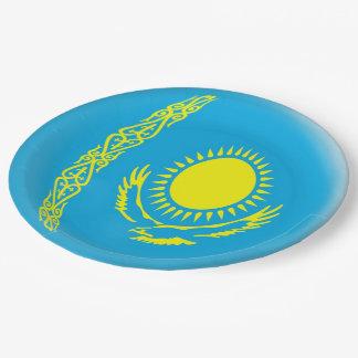 Flagge Kasachstans Kazakhstani Pappteller