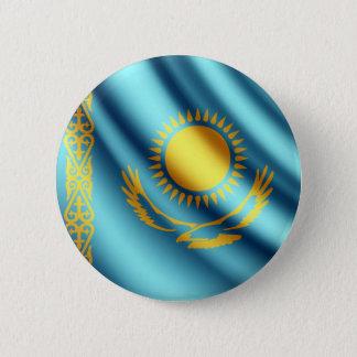 Flagge Kasachstans wellenartig bewegender pinback Runder Button 5,7 Cm