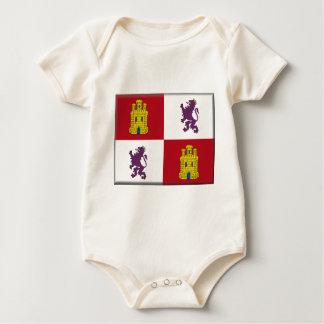 Flagge Kastiliens y Leon (Spanien) Baby Strampler